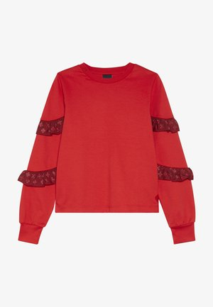 LONG SLEEVE WITH SMALL RUFFLES AT SLEEVES - Long sleeved top - red clash