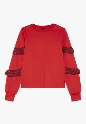 LONG SLEEVE WITH SMALL RUFFLES AT SLEEVES - Maglietta a manica lunga - red clash