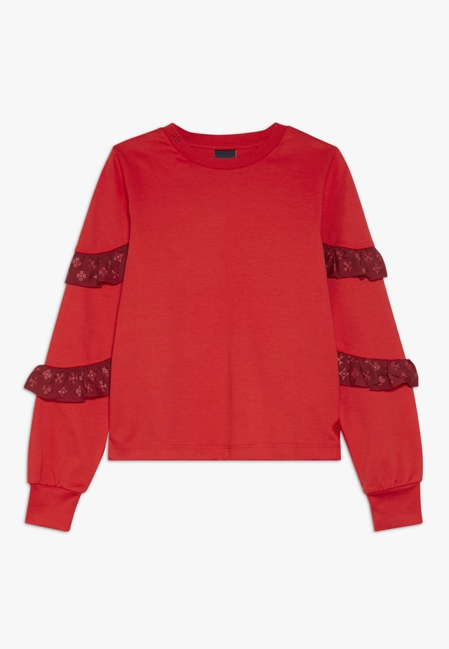 LONG SLEEVE WITH SMALL RUFFLES AT SLEEVES - Longsleeve - red clash