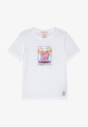 REGULAR FIT SHORT SLEEVE TEE - Print T-shirt - white