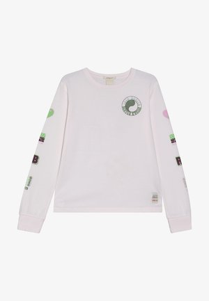LONG SLEEVE IN WITH PLACED ARTWORKS - Long sleeved top - dawn pink