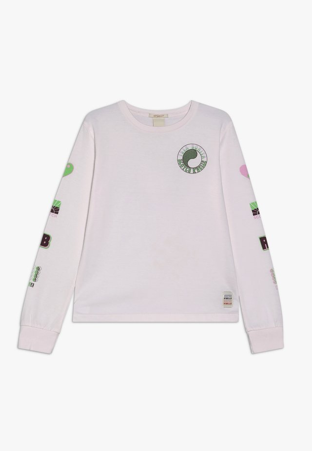 LONG SLEEVE IN WITH PLACED ARTWORKS - Pitkähihainen paita - dawn pink