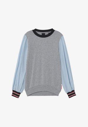 LOOSE WOVEN SLEEVES - Camiseta de manga larga - grey