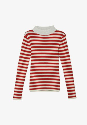 HIGH NECK PULL - Pullover - red/off white