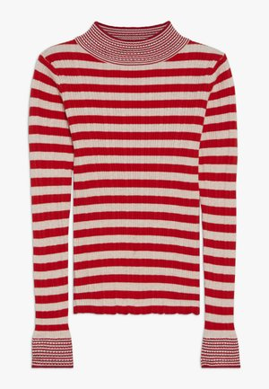 TURTLE NECK WITH DETAILS - Jumper - red