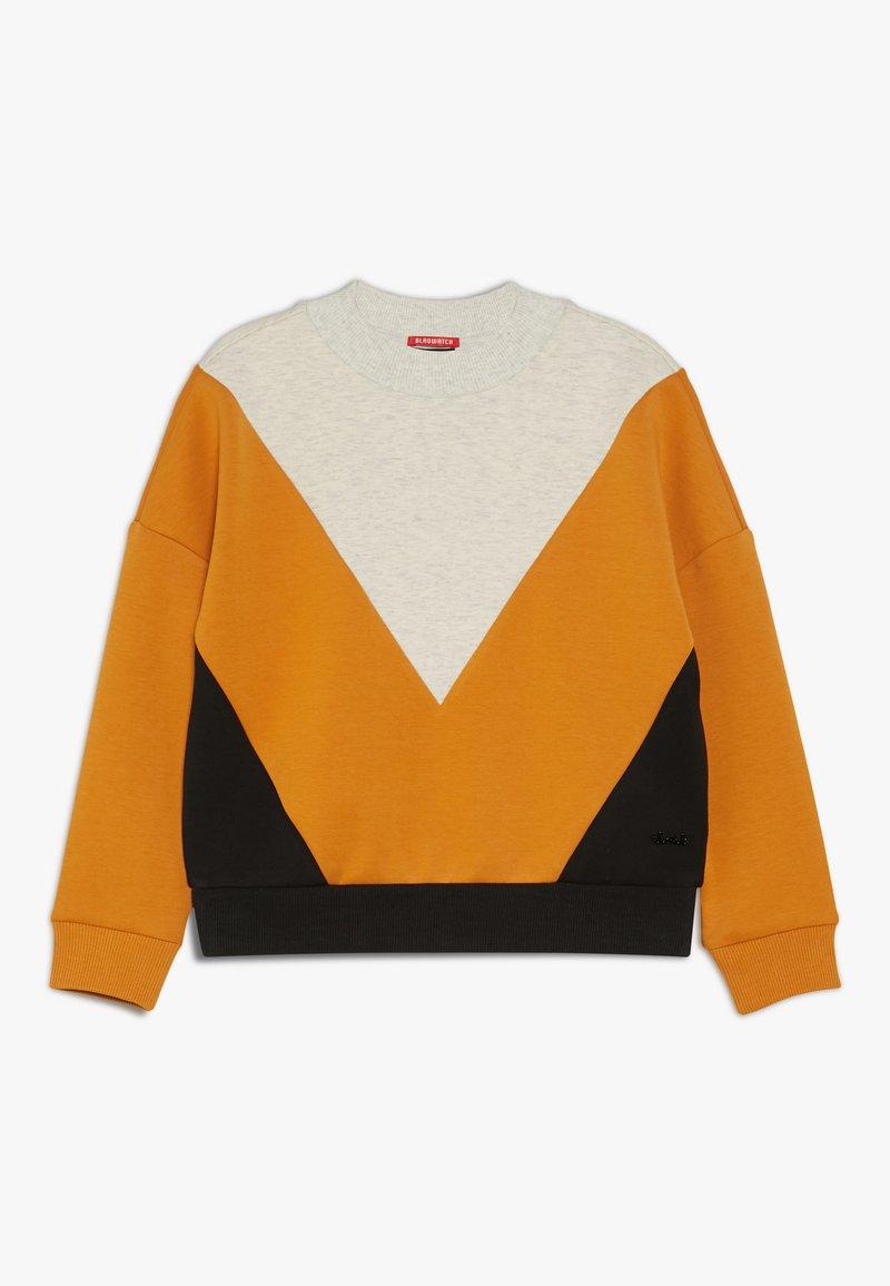 Scotch & Soda - COLOURBLOCK IN CLEAN QUALITY - Sweatshirt - mottled light grey/yellow