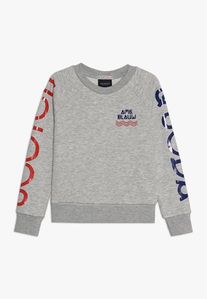 BASIC SWEAT WITH PRINT ON SLEEVES AND CHEST - Sweatshirt - grey melange