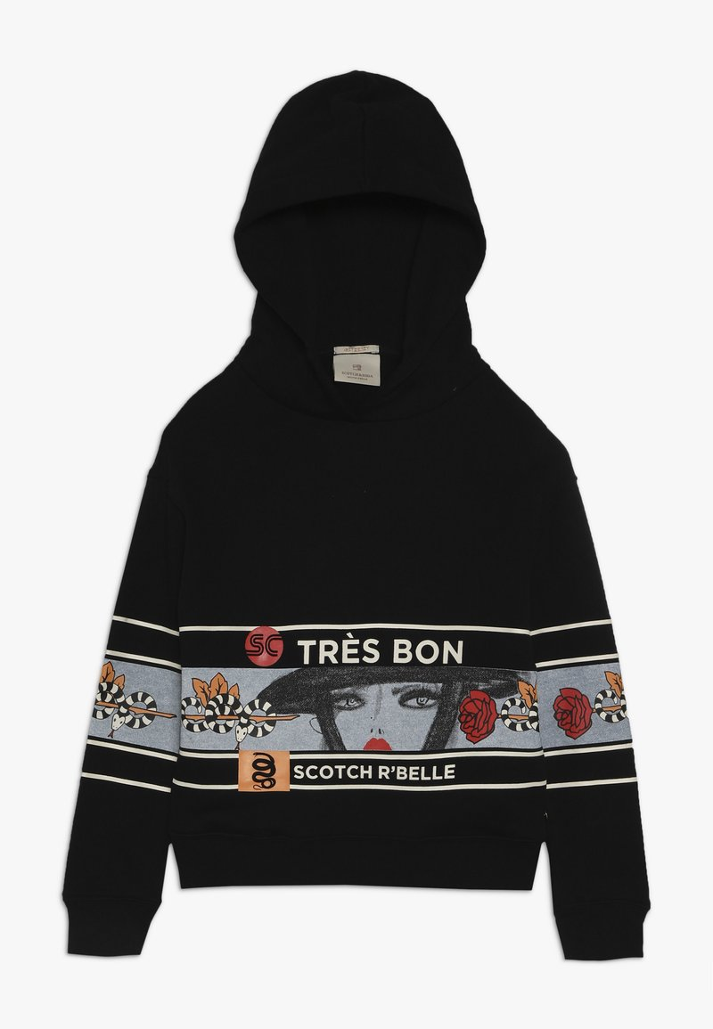 Scotch R'Belle - HOODY WITH ARTWORKS - Sweat à capuche - black