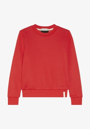 CLUB NOMADE CREW NECK WITH CHEST PRINTS - Collegepaita - tomato