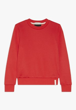 CLUB NOMADE CREW NECK WITH CHEST PRINTS - Mikina - tomato