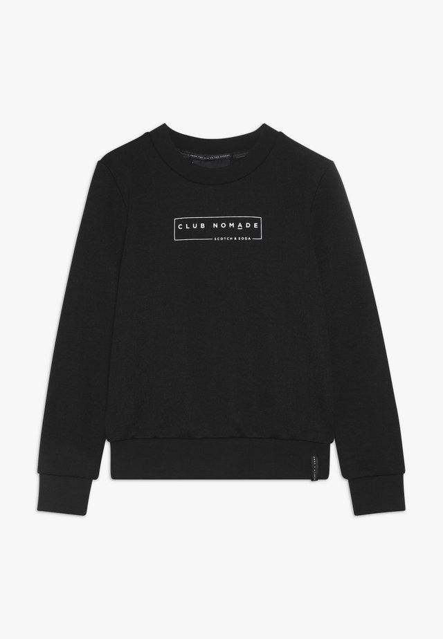 CLUB NOMADE CREW NECK WITH CHEST PRINTS - Sweater - black