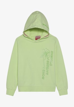 LOOSE FIT GARMENT DYE HOODY WITH SPORTY ARTWORKS - Hoodie - retro lime