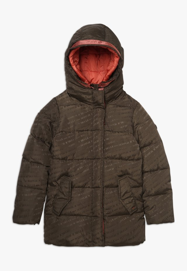 MID LENGTH PADDED JACKET WITH JACQUARD PATTERN - Vinterjakke - army