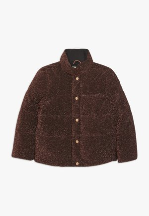 SHORT LENGTH PUFFER JACKET IN GLITTER QUALITY - Zimní bunda - rust