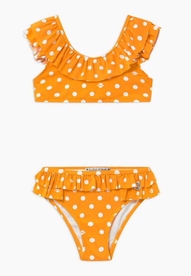 WITH RUFFLED SHOULDER DETAILS - Bikini - orange