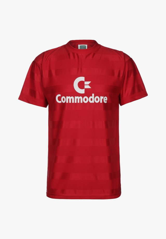 COMMODORE - T-shirt print - red/white