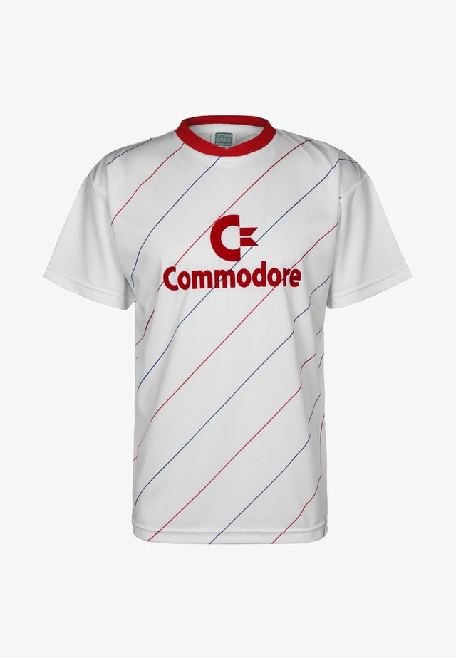 COMMODORE TRIKOT - T-shirt print - white/red