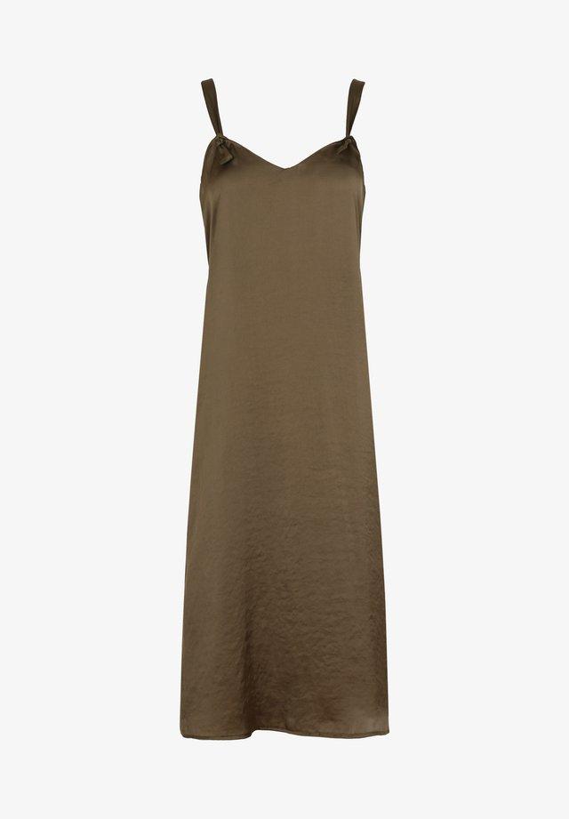 LACE-TRIMMED - Korte jurk - khaki