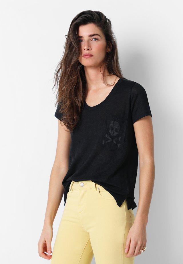 WITH SKULL - Print T-shirt - black