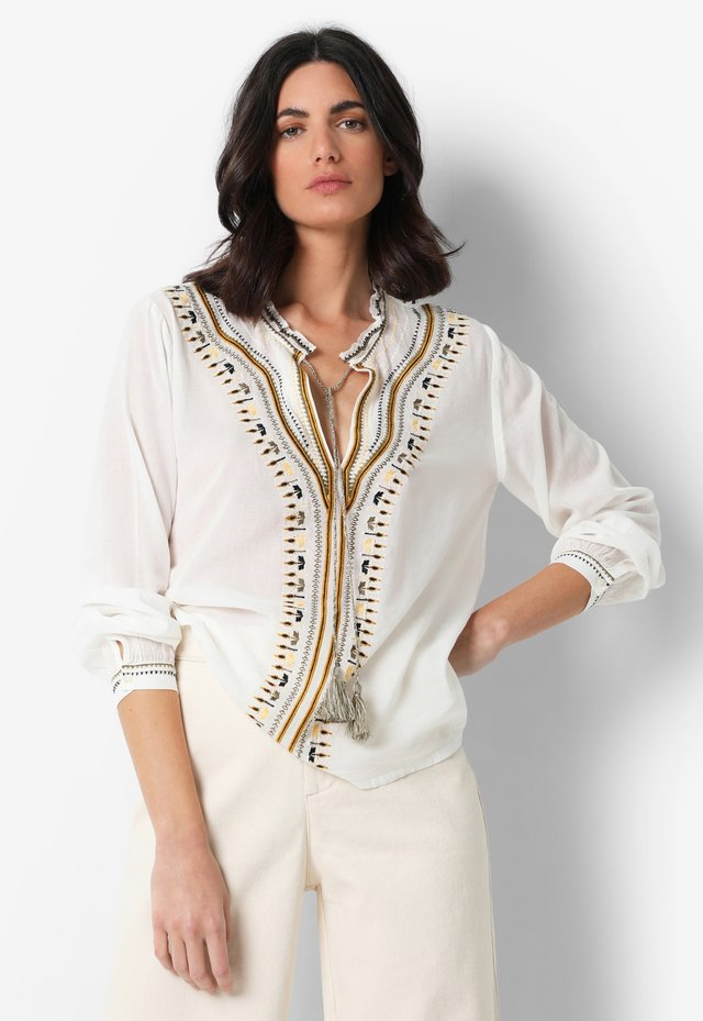 EMBROIDERED  - Blouse - ecru