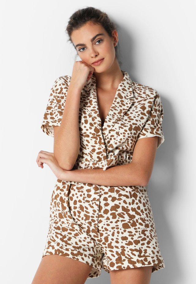 WITH ANIMAL PRINT - Tuta jumpsuit - beige