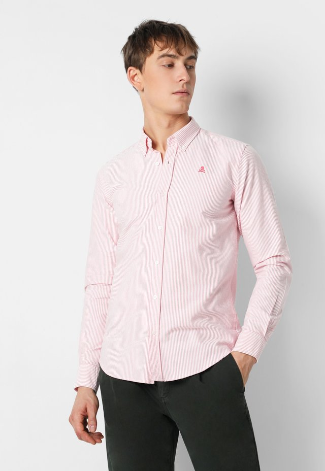 BASIC OXFORD SHIRT - Overhemd - coral stripes