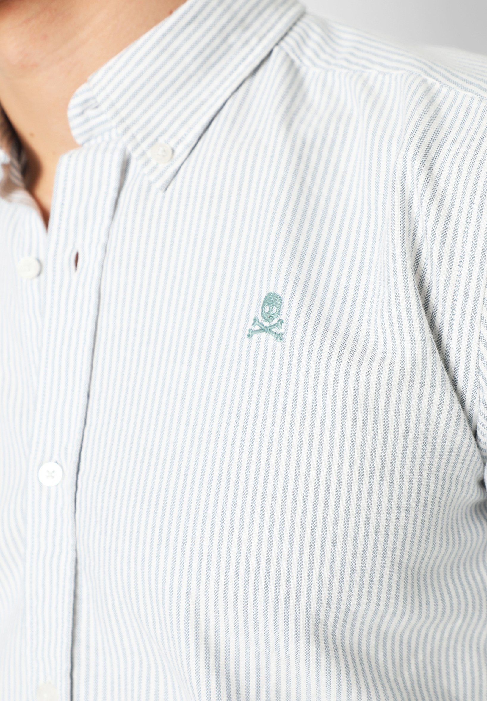 Scalpers BASIC OXFORD SHIRT Chemise light green stripes