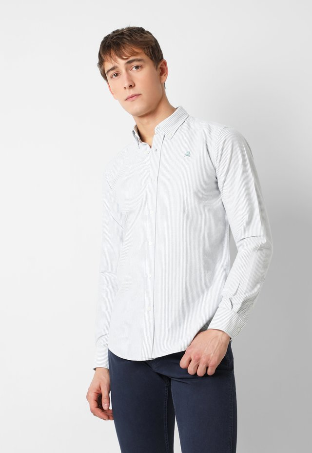 BASIC OXFORD SHIRT - Overhemd - green stripes