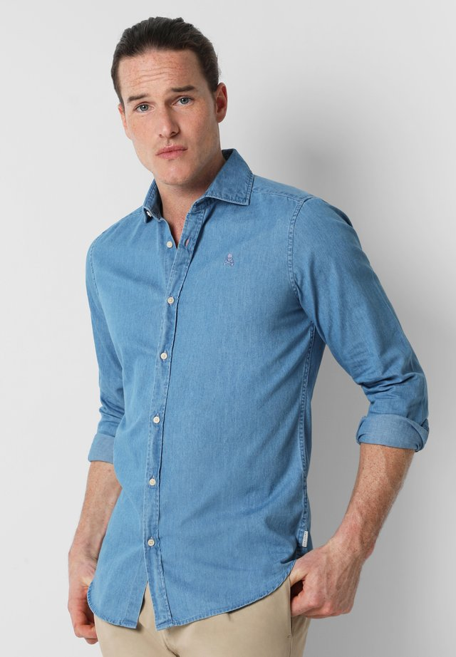 WITH SKULL - Camicia - denim