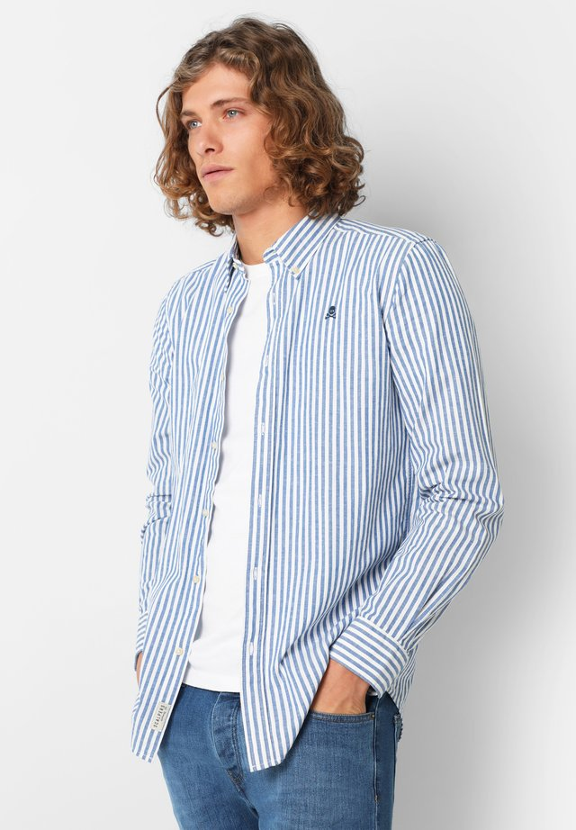 WITH BUTTON-DOWN COLLAR - Camicia - blue stripes