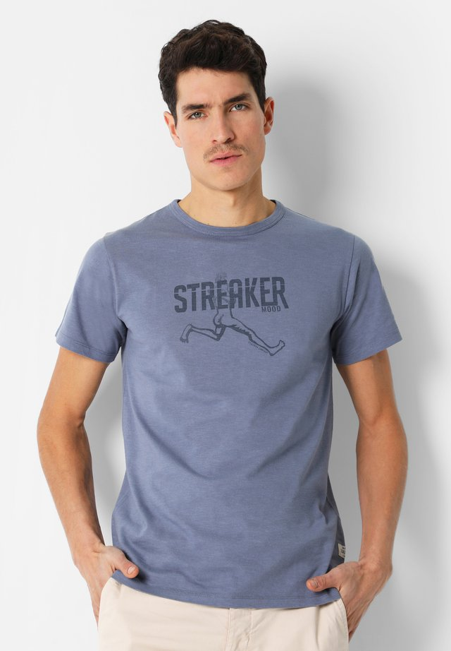 FADED FRONT PRINT  - T-shirt print - blue