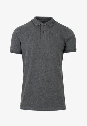 HEATHERED FABRIC - Polo - dark grey