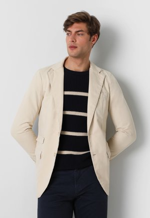 WITH DOUBLE POCKET - Blazer jacket - beige