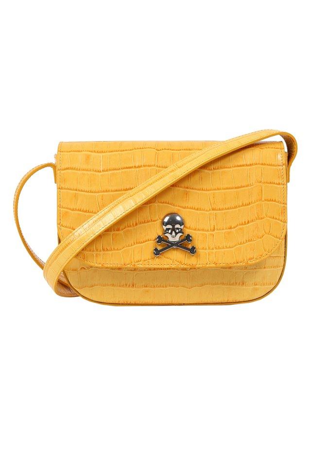 WITH SKULL - Across body bag - yellow