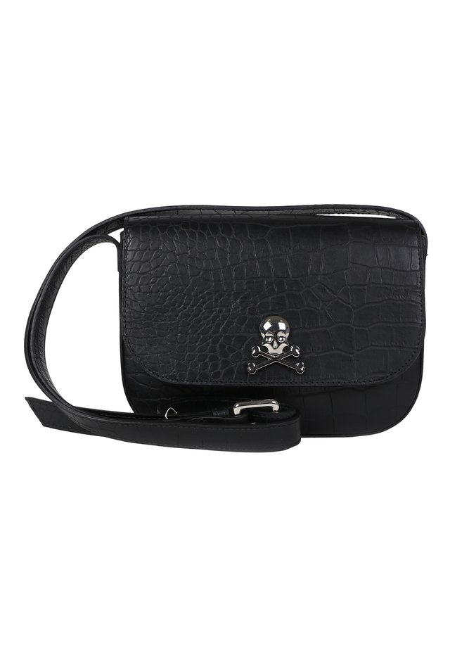 WITH SKULL - Across body bag - black