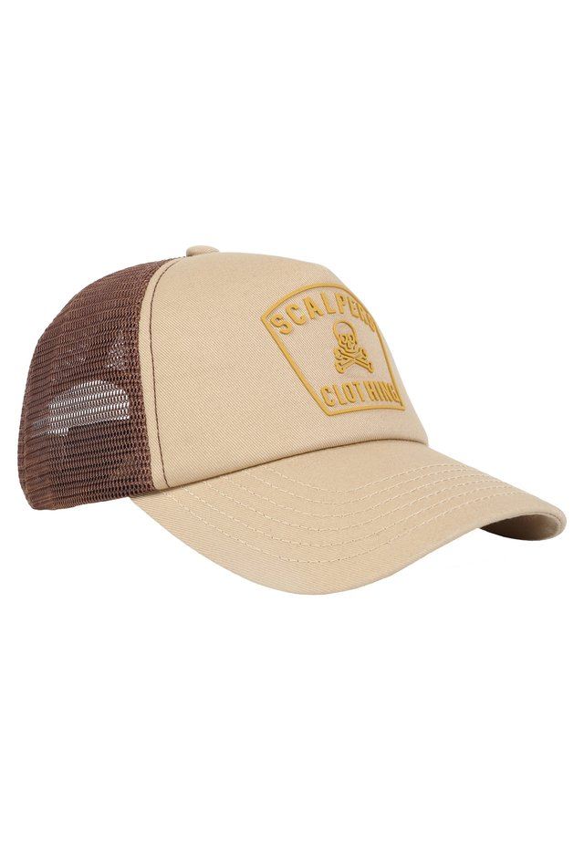 EMBROIDERED - Cap - beige