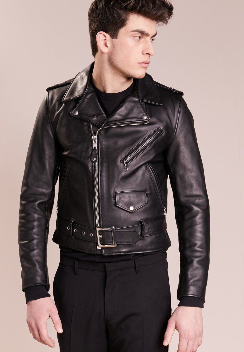 Schott Made in USA - ONE STAR - Leather jacket - black