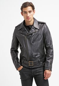 Schott Made in USA - PERFECTO - Veste en cuir - black - 0