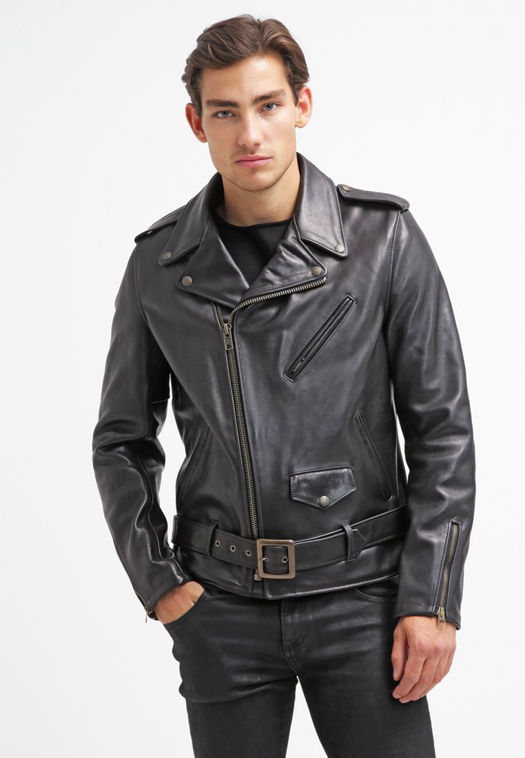 Schott Made in USA - PERFECTO - Veste en cuir - black