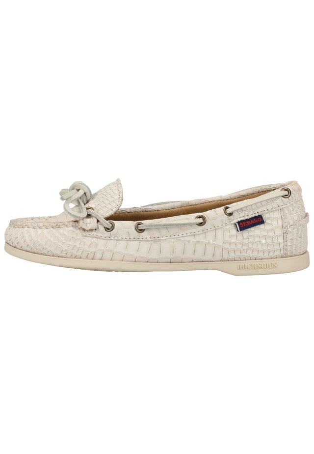 MOKASSIN - Boat shoes - white sb911