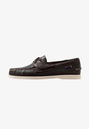 DOCKSIDES - Chaussures bateau - dark brown