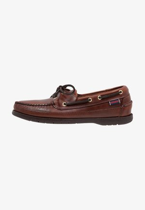 SCHOONER - Chaussures bateau - brown