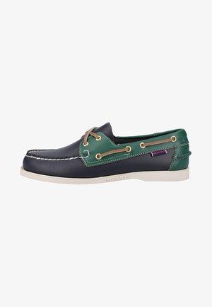 SPINNAKER - Chaussures bateau - blue navy/green