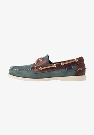 DOCKSIDES PORTLAND SPINNAKER  - Náuticos - blue navy/dark brown