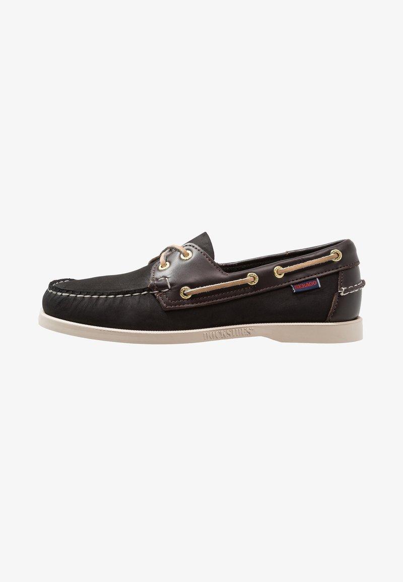 Sebago - SPINNAKER - Boat shoes - black/dark brown