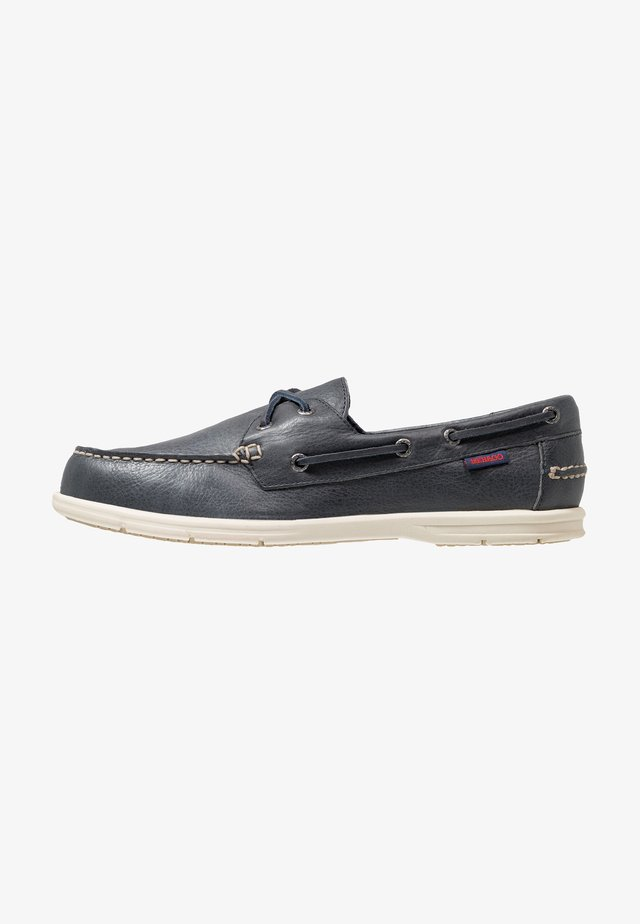 NAPLES - Boat shoes - blue navy