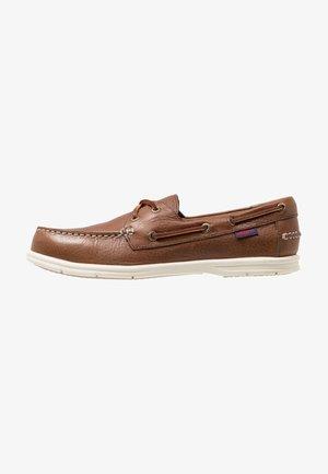 NAPLES - Chaussures bateau - dark brown