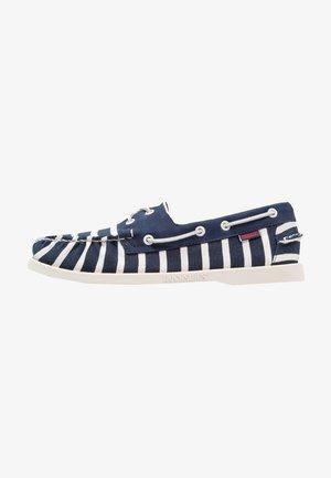 SPINNAKER STRIPE - Chaussures bateau - navy/white