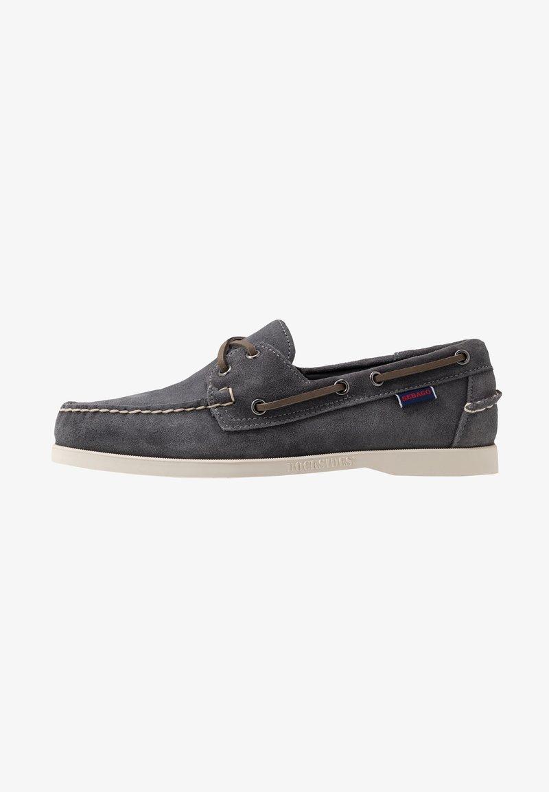 Sebago - DOCKSIDES PORTLAND - Chaussures bateau - dark grey