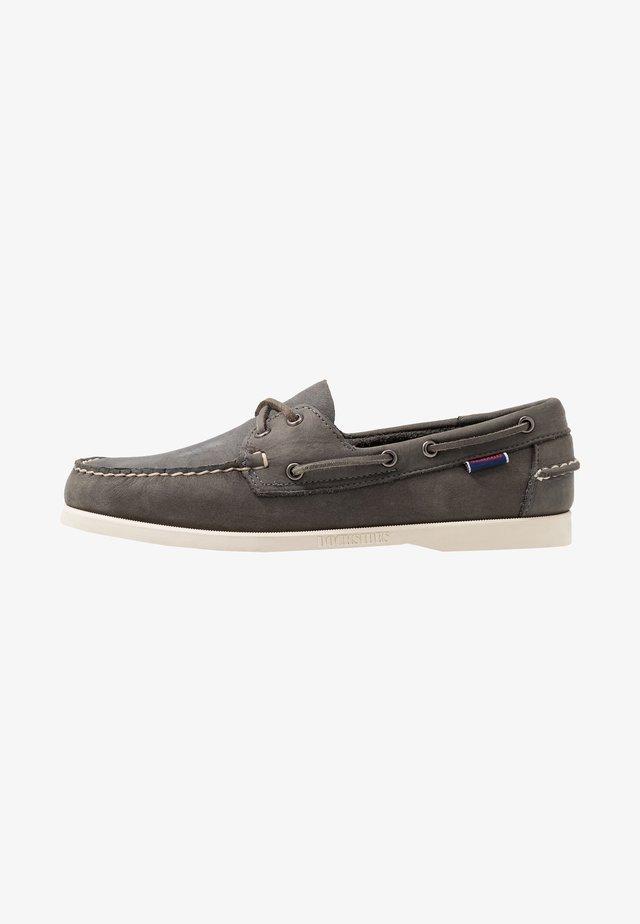 DOCKSIDES PORTLAND CRAZY HORSE - Boat shoes - dark grey